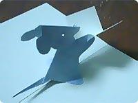 Открытки из бумаги (объемные) Мышка с открыткой