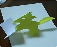 Открытки из бумаги (объемные) Открытка с лисичкой