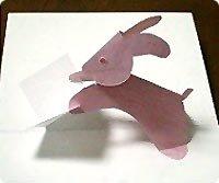 Открытки из бумаги (объемные) Заяц и открытка