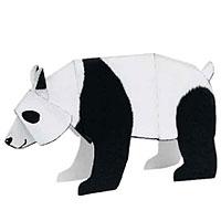 Модели и звери из бумаги Панда