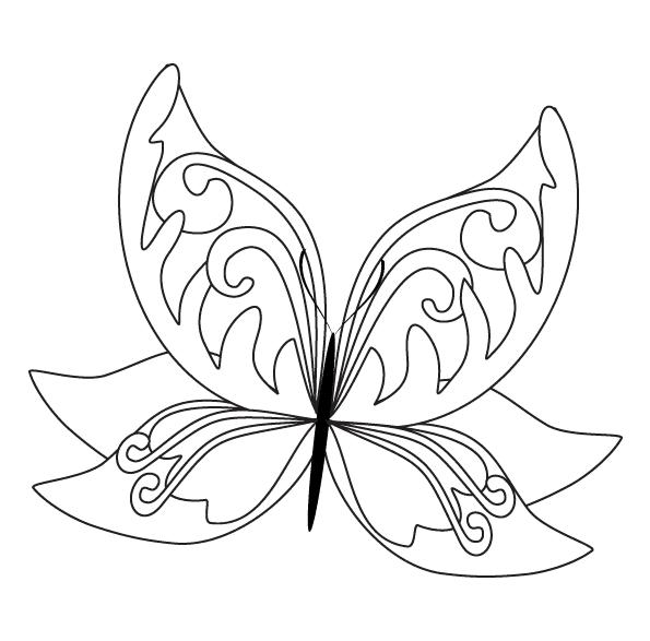 Раскраски для детей бабочки