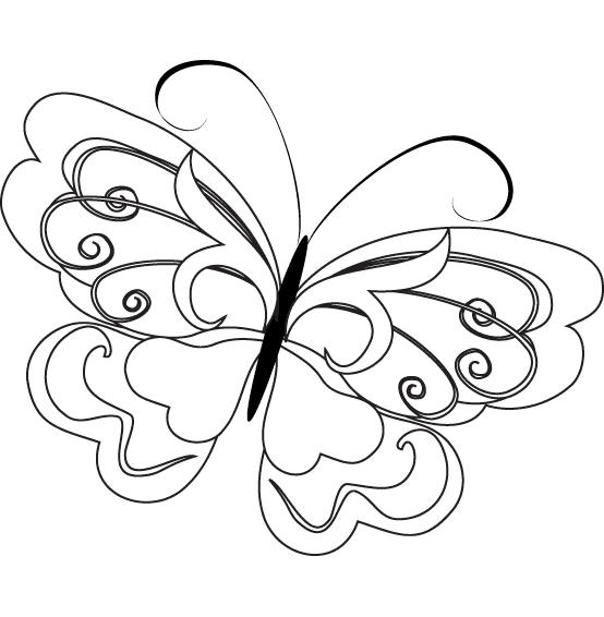 раскраски для детей бабочка похожая на принцессу
