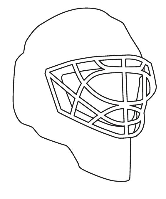 Как нарисовать шлем хоккейный