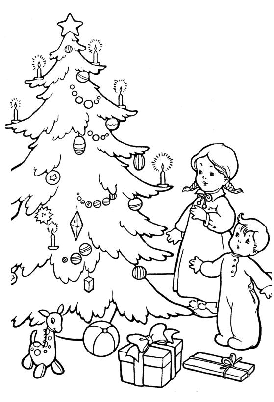 Раскраски для детей Сочельник