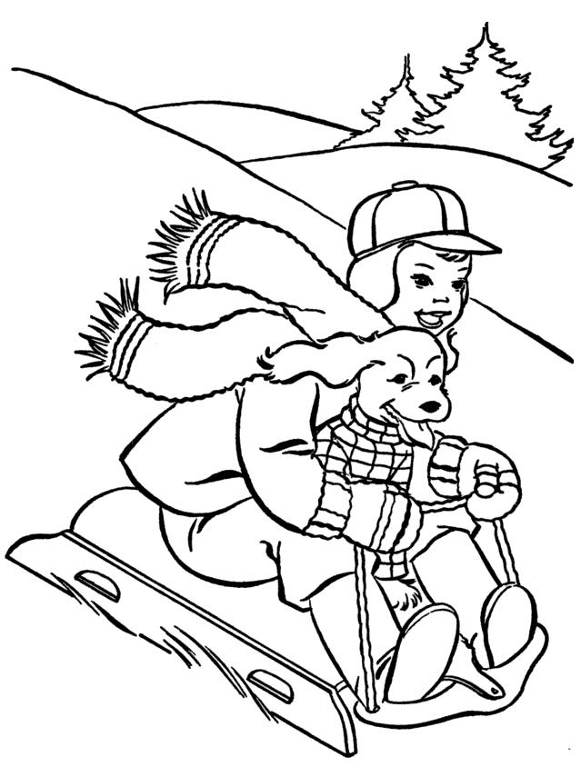 Раскраска горка для детей