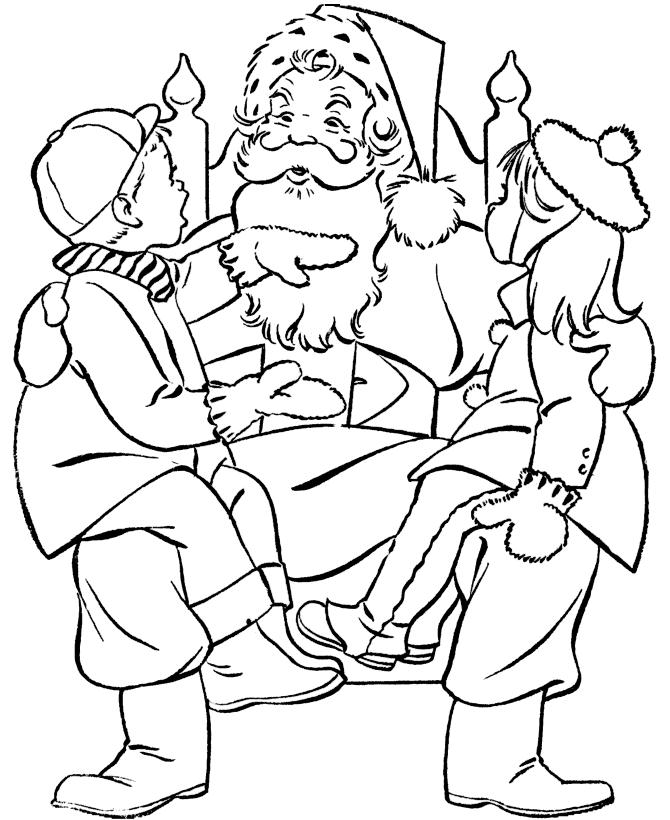 Санта Клаус Раскраски Раскраски зима