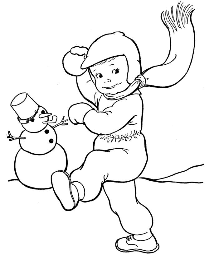 Лови снежок Раскраски Раскраски зима
