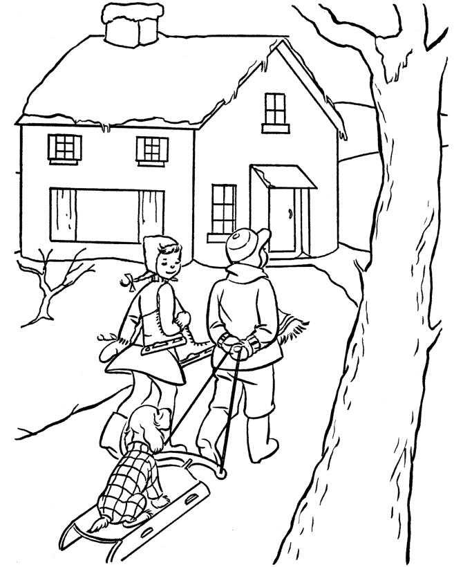 Картинки на тему зимой на прогулке