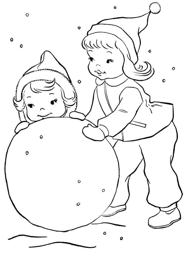 Девчушки-хохотушки Раскраски Раскраски зима