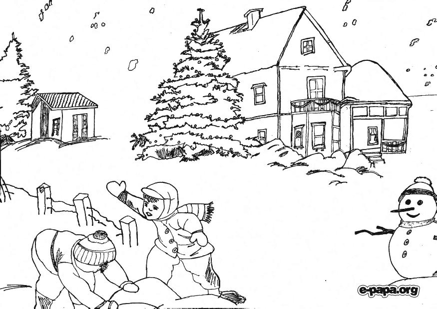 Рождество Раскраски Раскраски зима