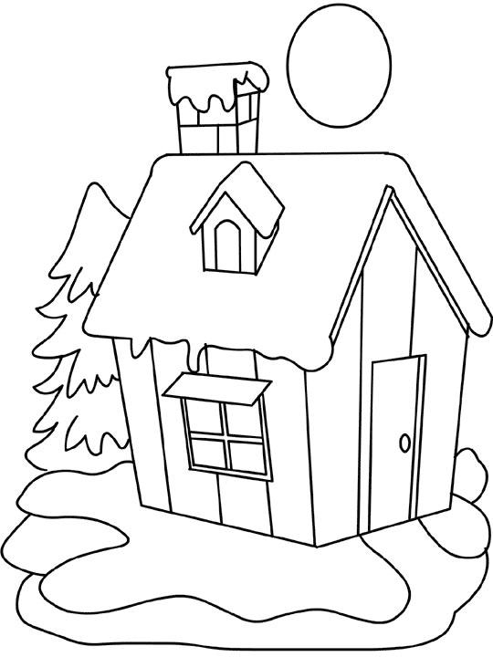 Домашний очаг Раскраски Раскраски зима
