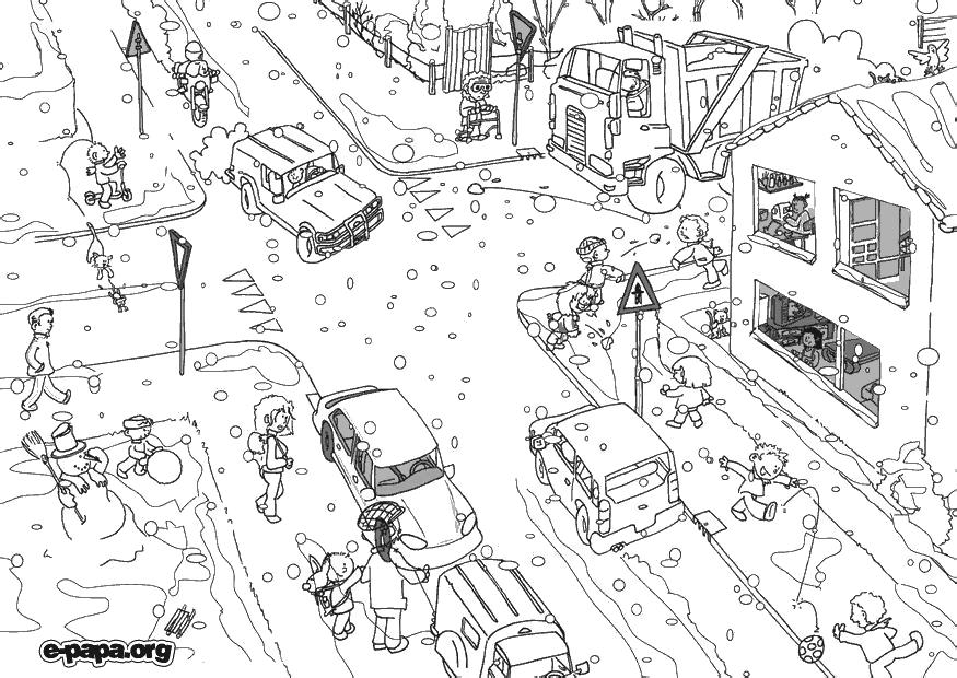 Город картинки раскраски