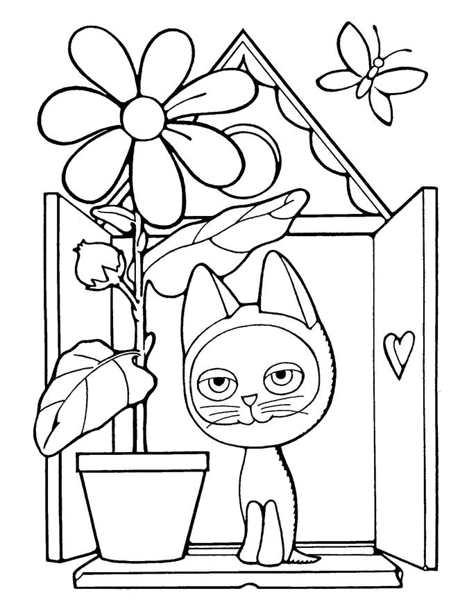 Раскраска игра котёнок