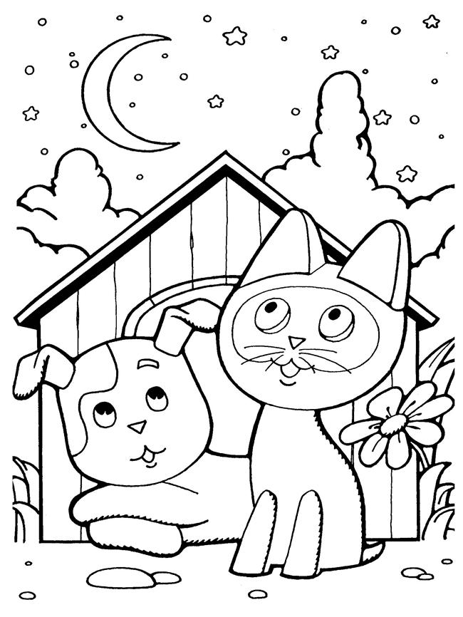 Раскраски котенок по имени гав распечатать