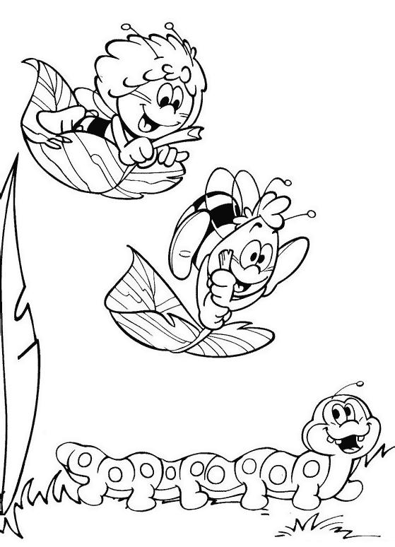 Пчёлка майя игры раскраски