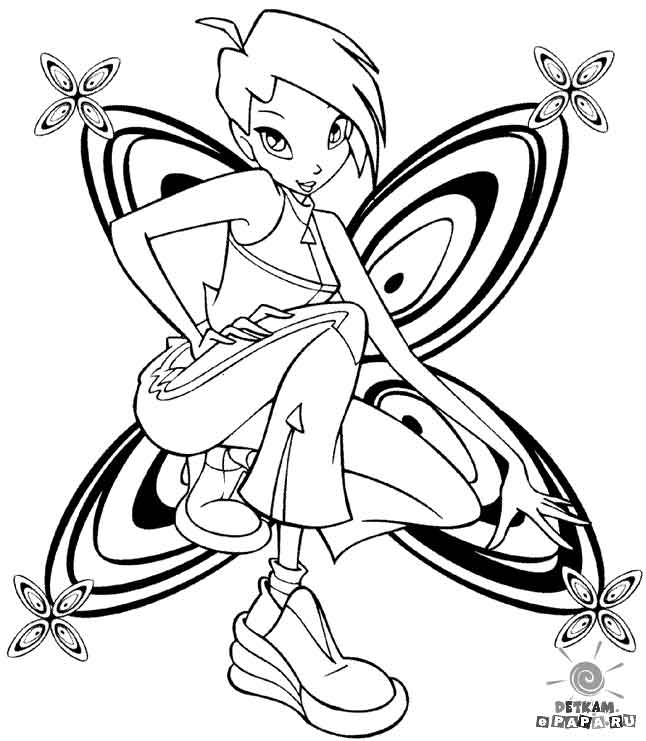 Winx Club Enchantix Coloring Pages