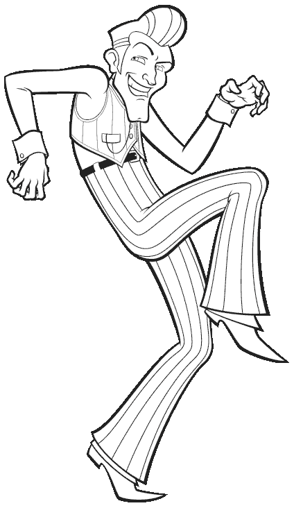 Robbie rotten lazy town coloring page sketch coloring page for Lazy town coloring pages