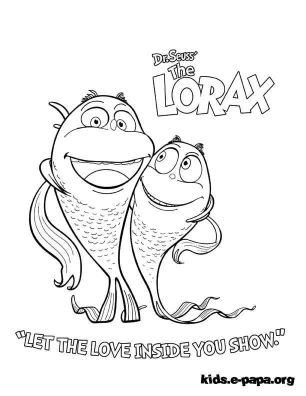 The Lorax Coloring Pages Unless