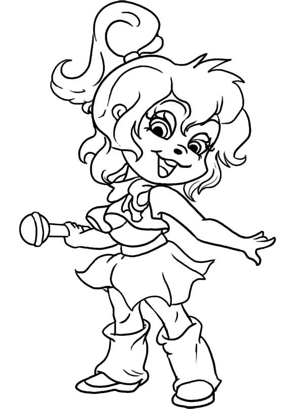 free printable chipettes coloring pages - photo#12