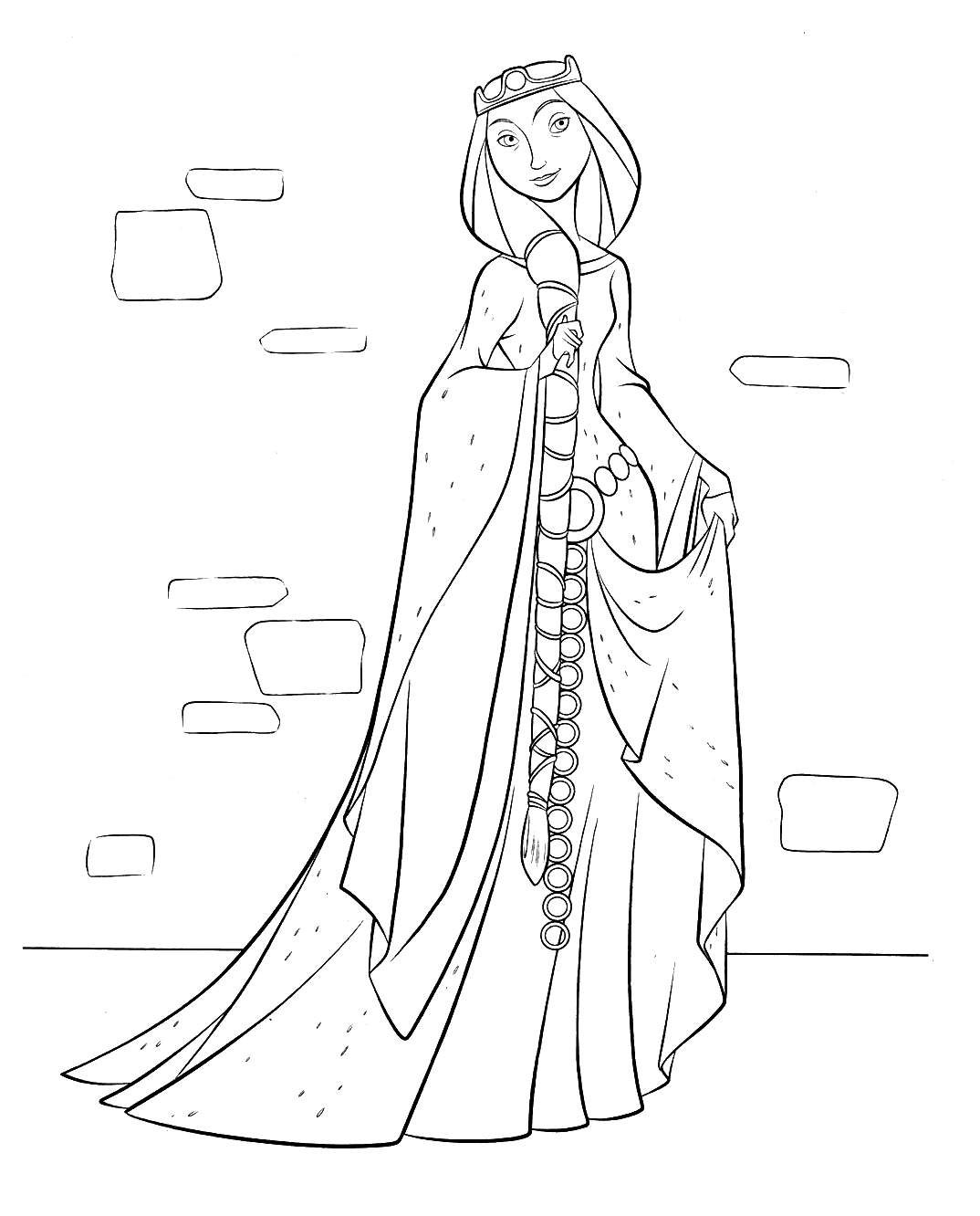 Disney Princess Brave Coloring Pages