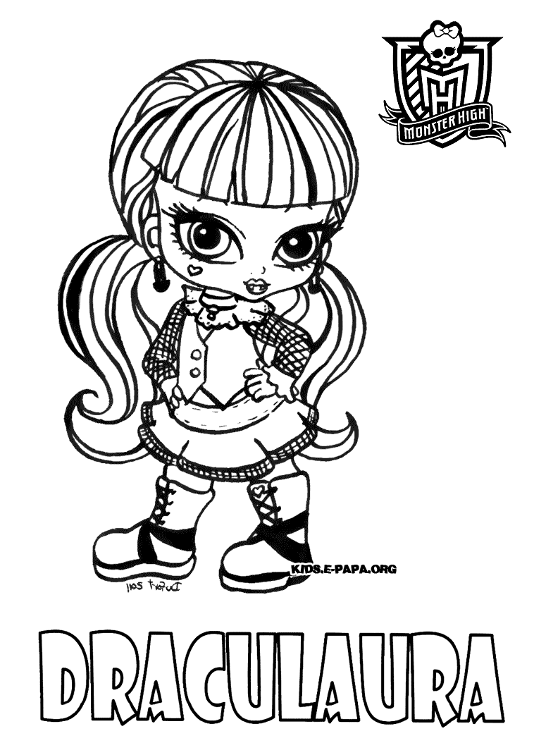Monster High Ausmalbilder Catty Noir : Monster High Catty Noir Coloring Pages Dibujos Para Pintar De Abbey