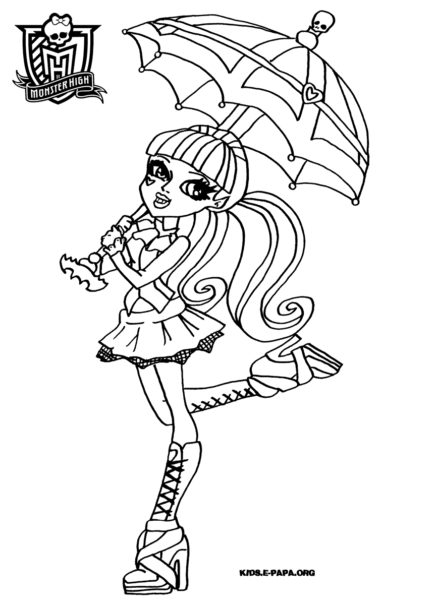 Monster High Coloring Pages Venus Mcflytrap To Print Dibujos De