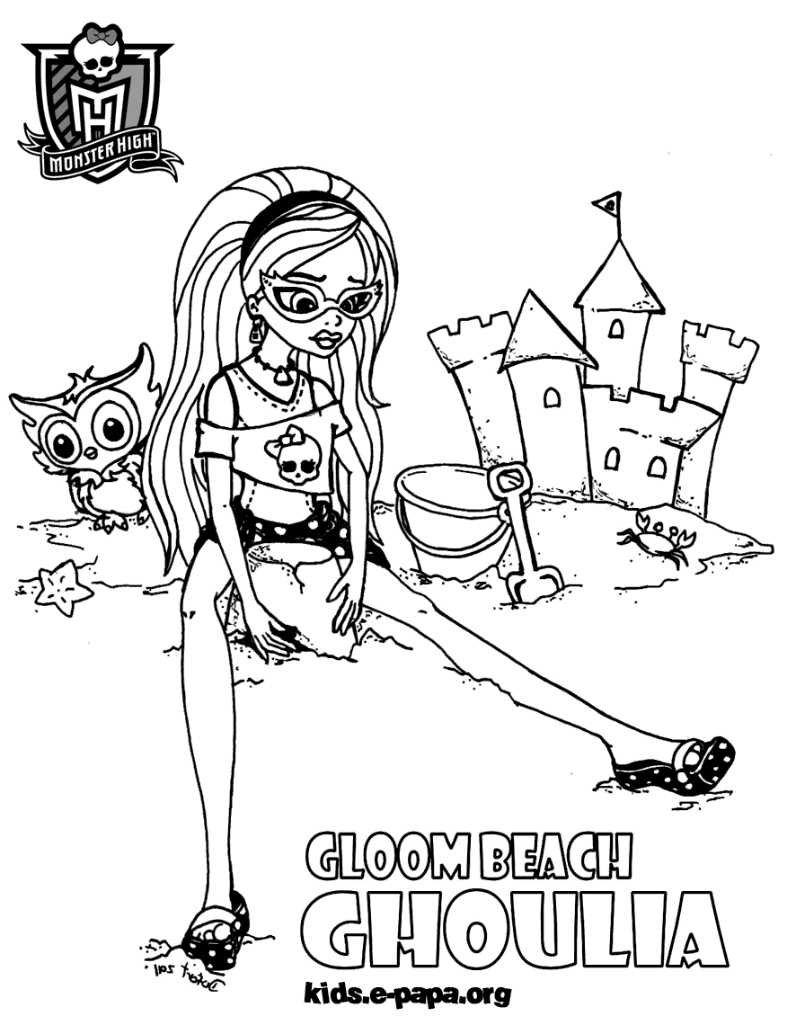 Ghoulia Yelps Kolorowanki Monster High