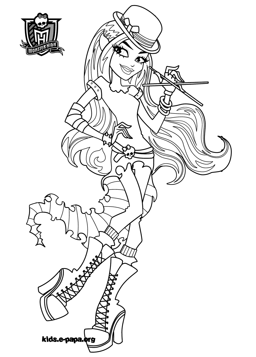 Monster High Coloriage Baby This Printable Colouring Sheet Show A