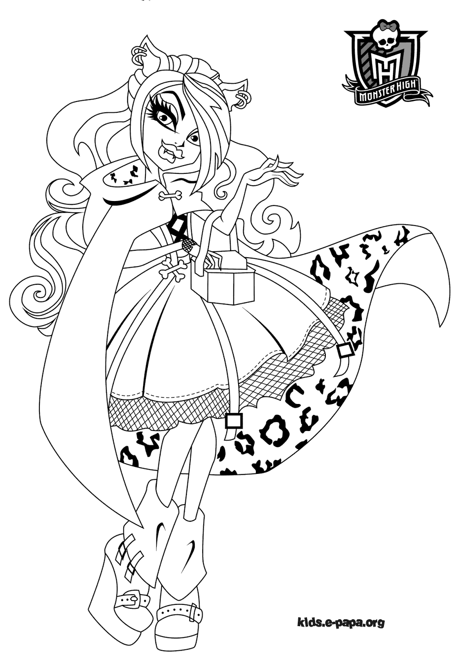 Monster High Ausmalbilder Jinafire : Monster High Draculaura Coloriage Draculaura Monster High Coloring
