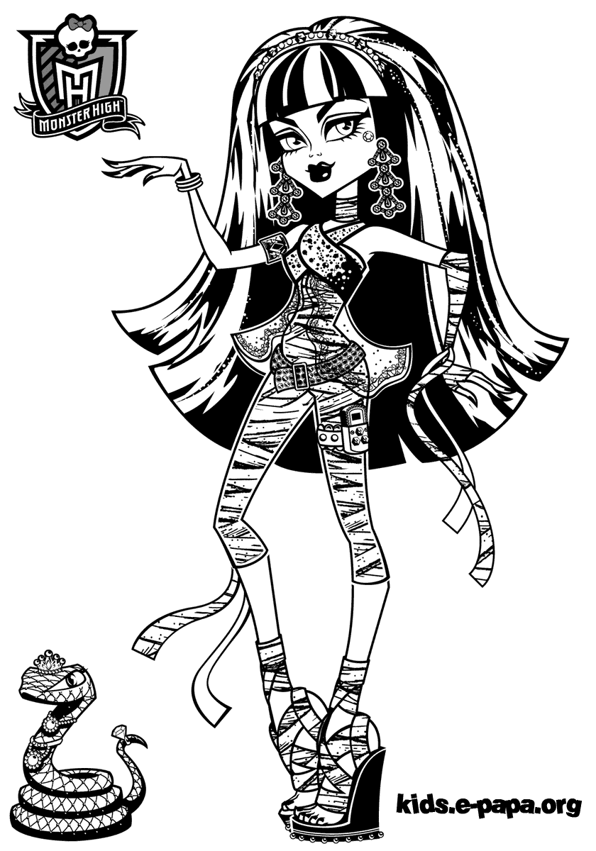 Cleo de Nile Kolorowanki Monster High