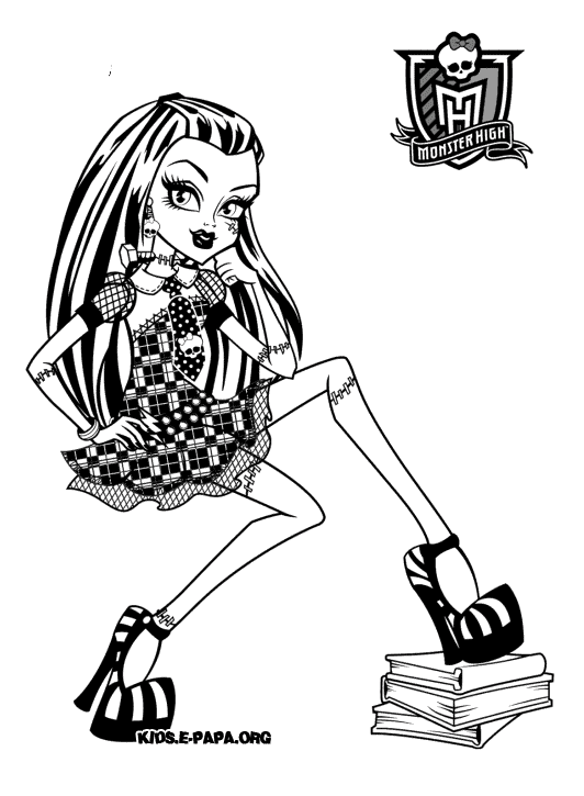 Frankie Stein Dibujos para colorear Monster high