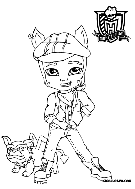 Clawd Wolf Kolorowanki Monster High
