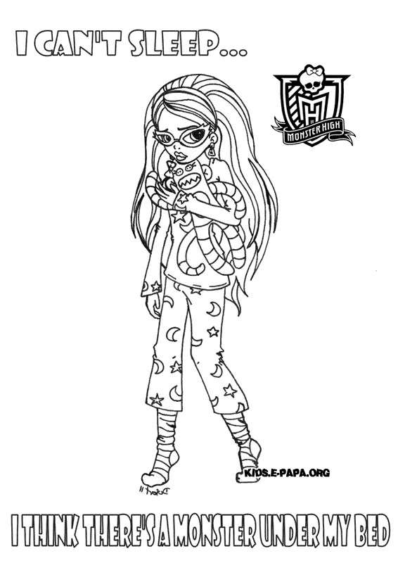 Ghoulia Yelps Ausmalbilder Die Monster High-Clique