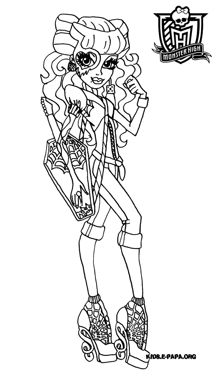 Disegni da colorare per bambini operetta for Operetta monster high coloring pages
