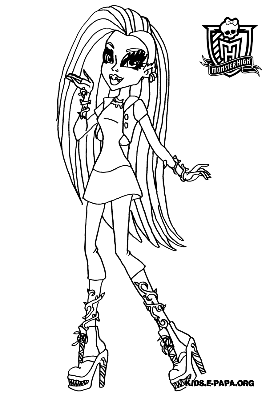Venus McFlytrap Disegni da colorare Monster high