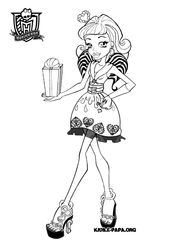 draculaura little girl monster high coloring page. click the ...