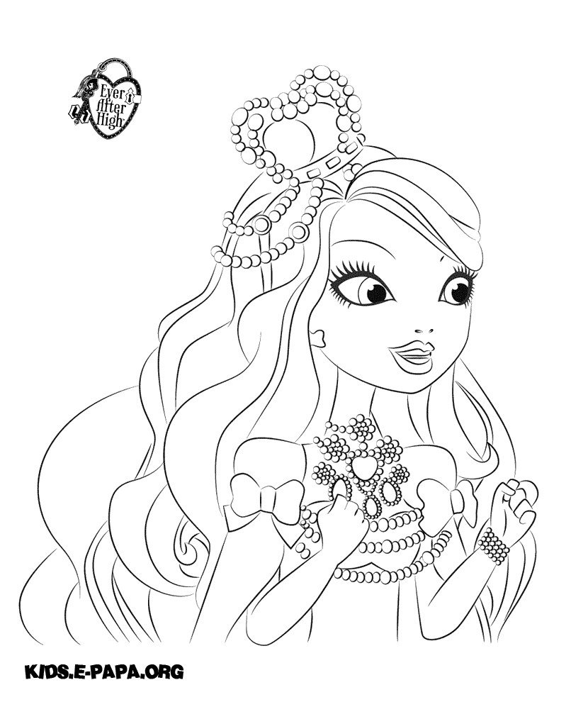Free Coloring Pages Of Ever After High Ashlynn