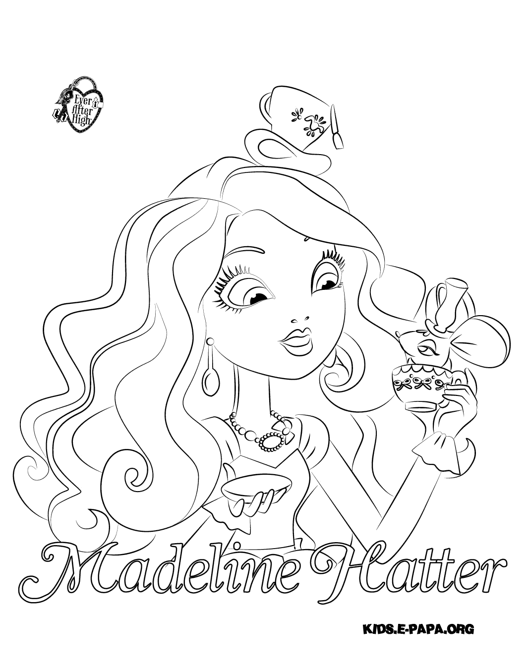 Madeline Hatter Kolorowanki Kolorowanki Ever After High