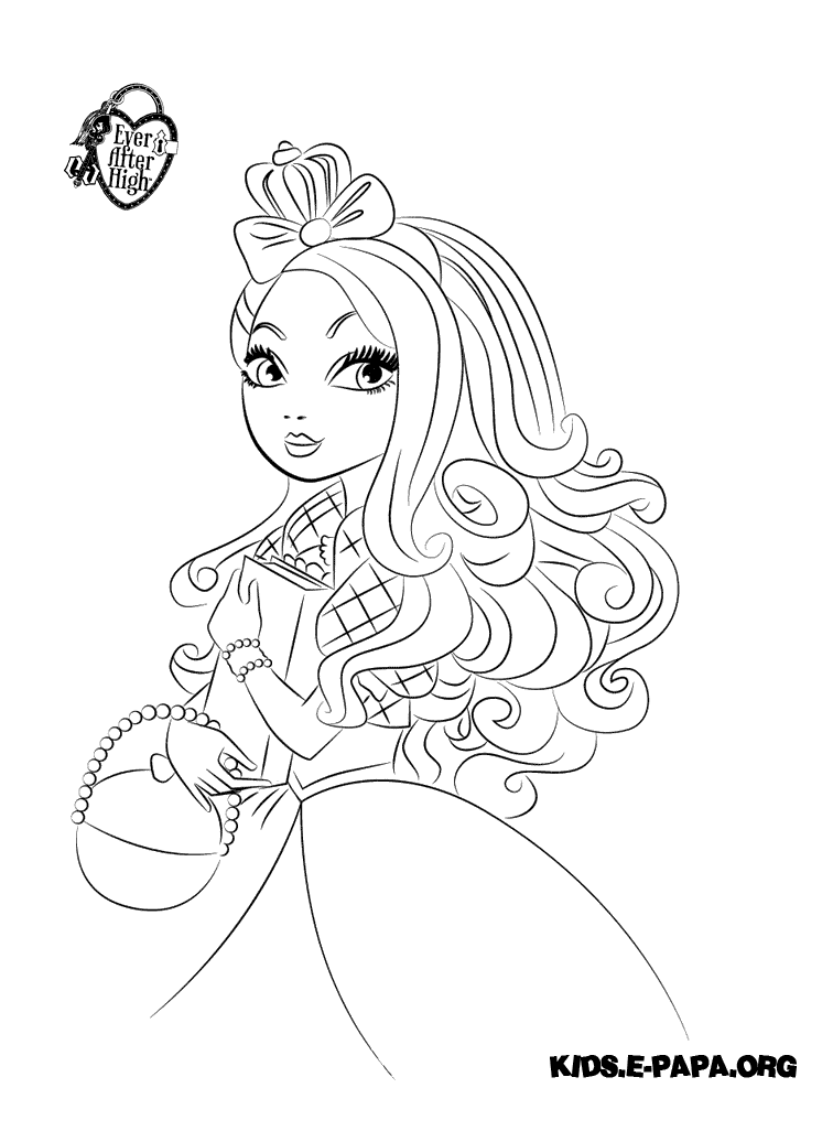 Apple White Kolorowanki Kolorowanki Ever After High