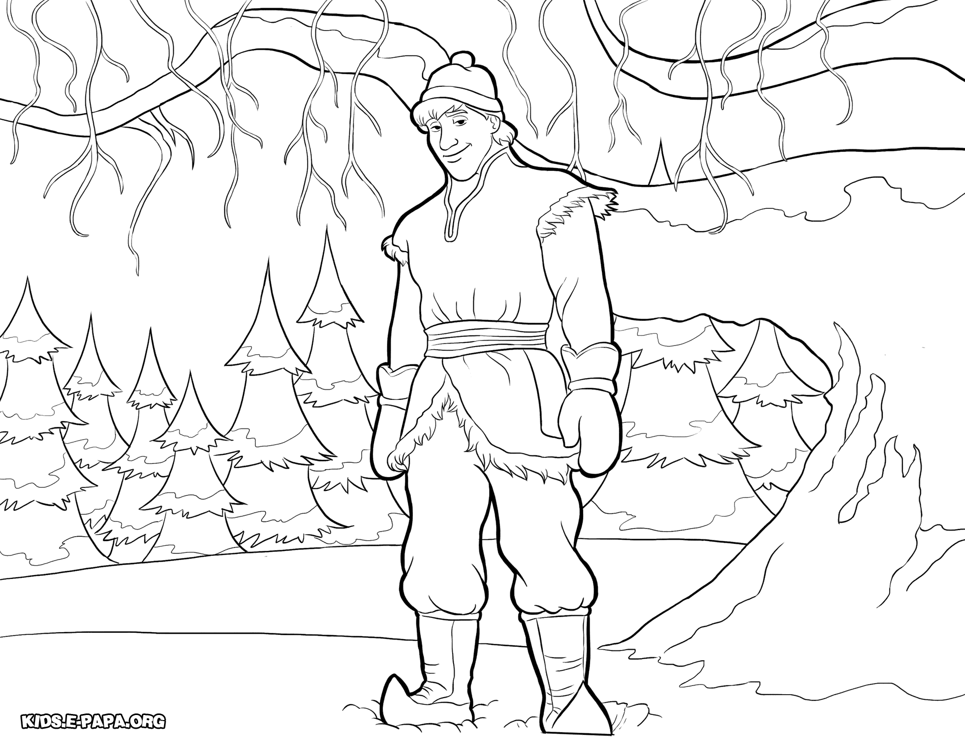 Christoph Disney Frozen Coloring Pages