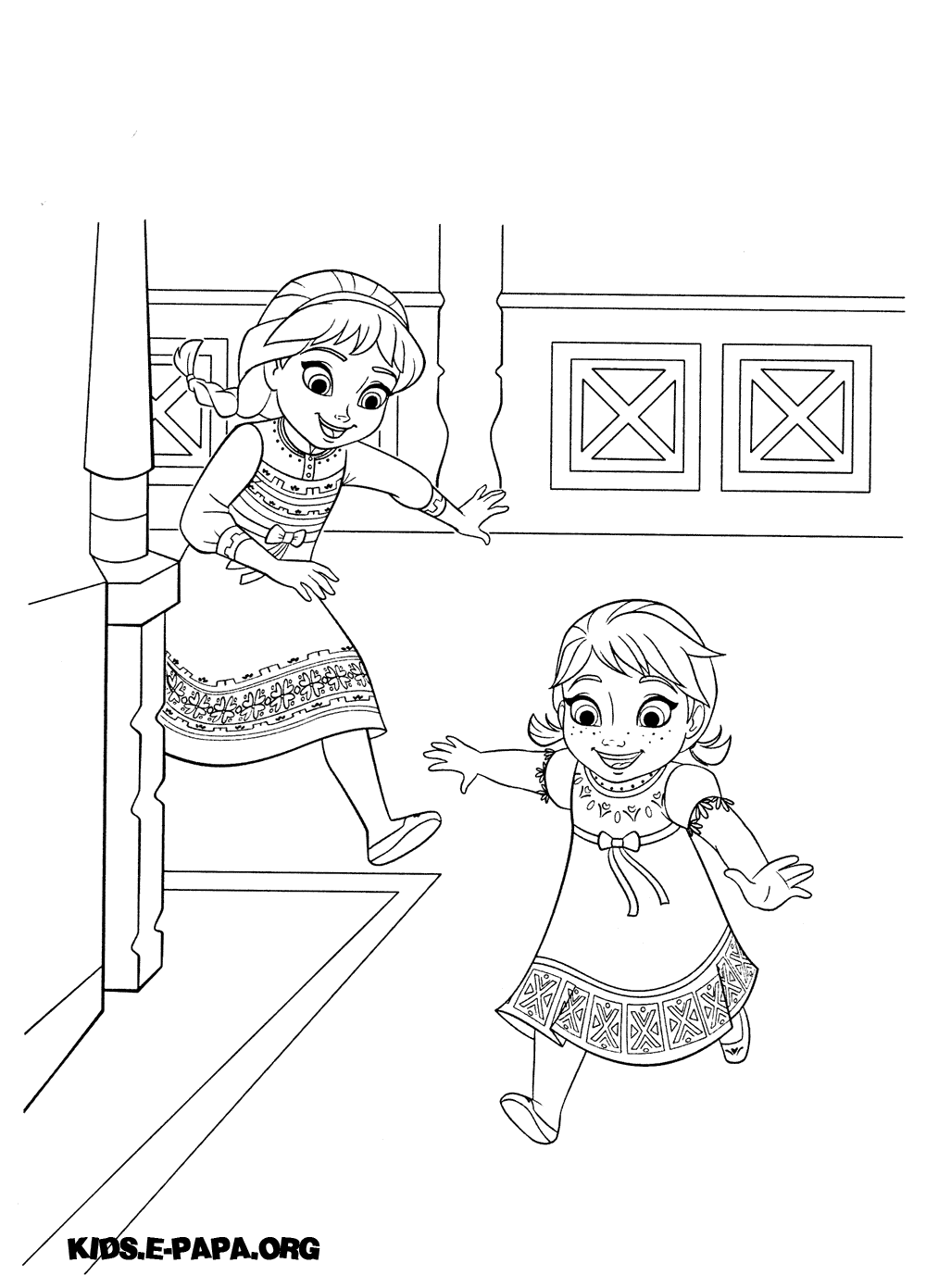 Anna And Elsa Frozen Fever Coloring Pages