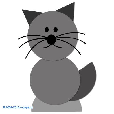 Аппликация кошка