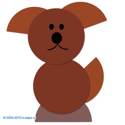 Аппликация собачка