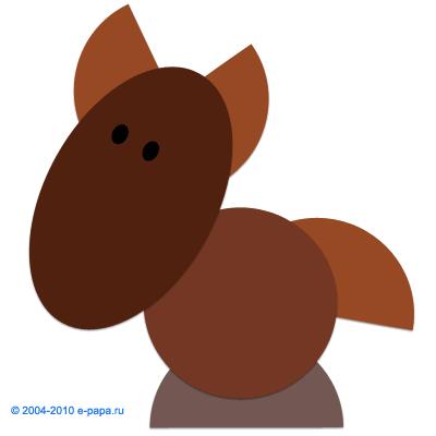 Аппликация лошадь