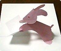 Заяц и открытка