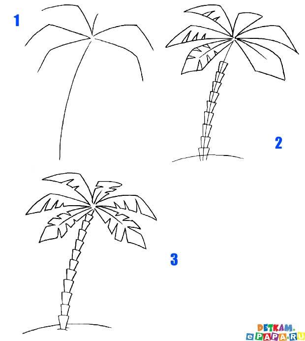 Статистика поисковых запросов.  Деревья нарисованные карандашом.